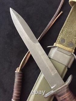 Ww II 2 Us M3 Pal Couteau De Combat De Tranchée Dague M8 Scabbrd Army Paratrooper A+