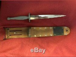 Ww2 Marine Raider Fighting Combat Couteau Dague Stiletto Commando
