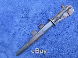 Ww2 Originale Britannique Fairbairn Sykes Dagger Fighting Couteau Et Gaine