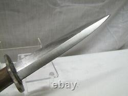 Wwi Wwii Tranchée Allemande, Botte, Poignard Couteau De Combat Avec Sabbard Hugo Solingen