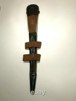Wwii Fairbairn Sykes Commando Knife Mould 1 F&s 3ème Dagger De Combat & Gaine