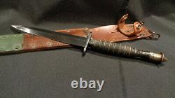 Wwii Fairbairn Sykes Stiletto Dagger Ribbed & Roped Ww2 F/s Fighting Knife